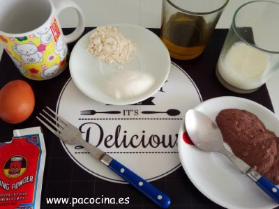 Mug de chocolate ingredientes