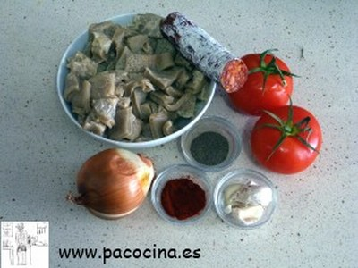 Callos de ternera ingredientes