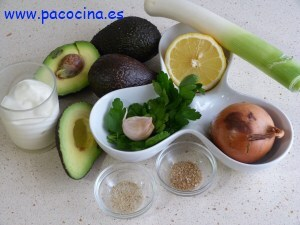 Crema de aguacate ingredientes