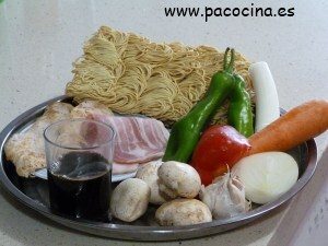 Fideos chinos ingredientes