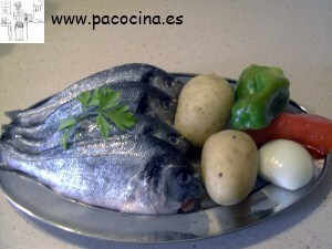 Lubina al horno ingredientes