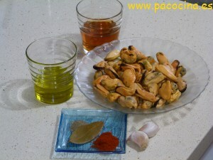 Mejillones en escabeche ingredientes