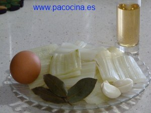 Pencas en escabeche ingredientes